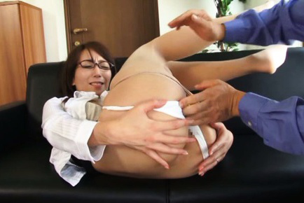 Shiho. Hot Shiho enjoys as her pussy gets teased before it is expossed